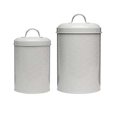 Hampton 2-Piece Metal Storage Canister Set with Arched Handles