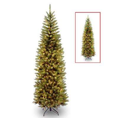 7 ft. PowerConnect Kingswood Fir Pencil Tree with Dual Color LED Lights