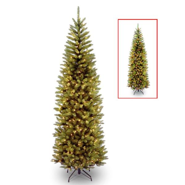 7 ft. PowerConnect Kingswood Fir Slim Artificial Christmas Tree with Dual Color LED Lights
