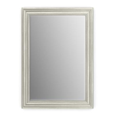29 in. W x 41 in. H (M3) Framed Rectangular Deluxe Glass Bathroom Vanity Mirror in Vintage Nickel