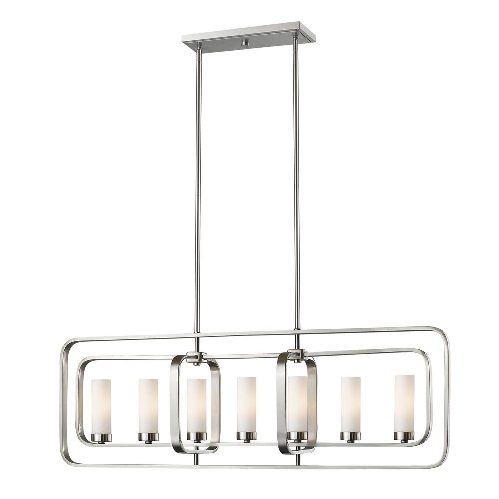 Filament Design Austin 7 Light Brushed Nickel Hanging