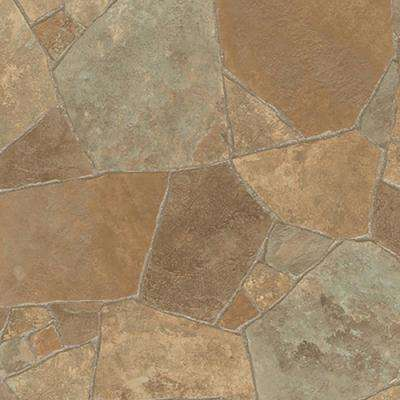 Princeton Stone 13.2 ft. Wide x Your Choice Length Residential Sheet Vinyl Flooring