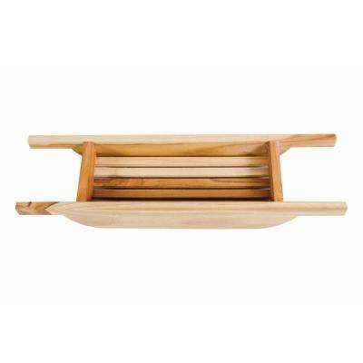 30 in. L Solid Teak Bath Caddy