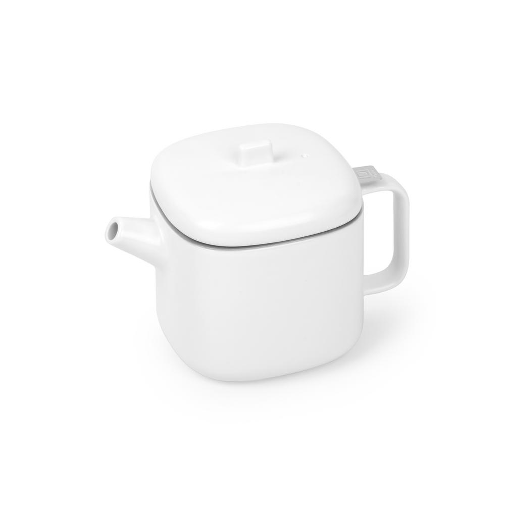 Cutea White Nickel 3 Cup Teapot With Infuser