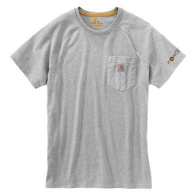 Force Delmont Men's Regular Large Heather Gray Cotton Short Sleeve T-Shirt