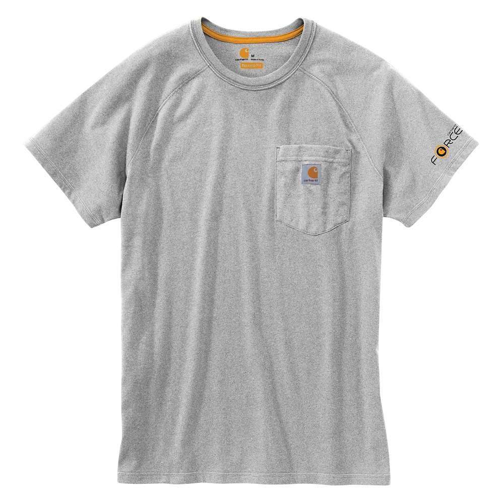 0178fb8bf96 Force Delmont Men s Regular Medium Heather Gray Cotton Short Sleeve T-Shirt