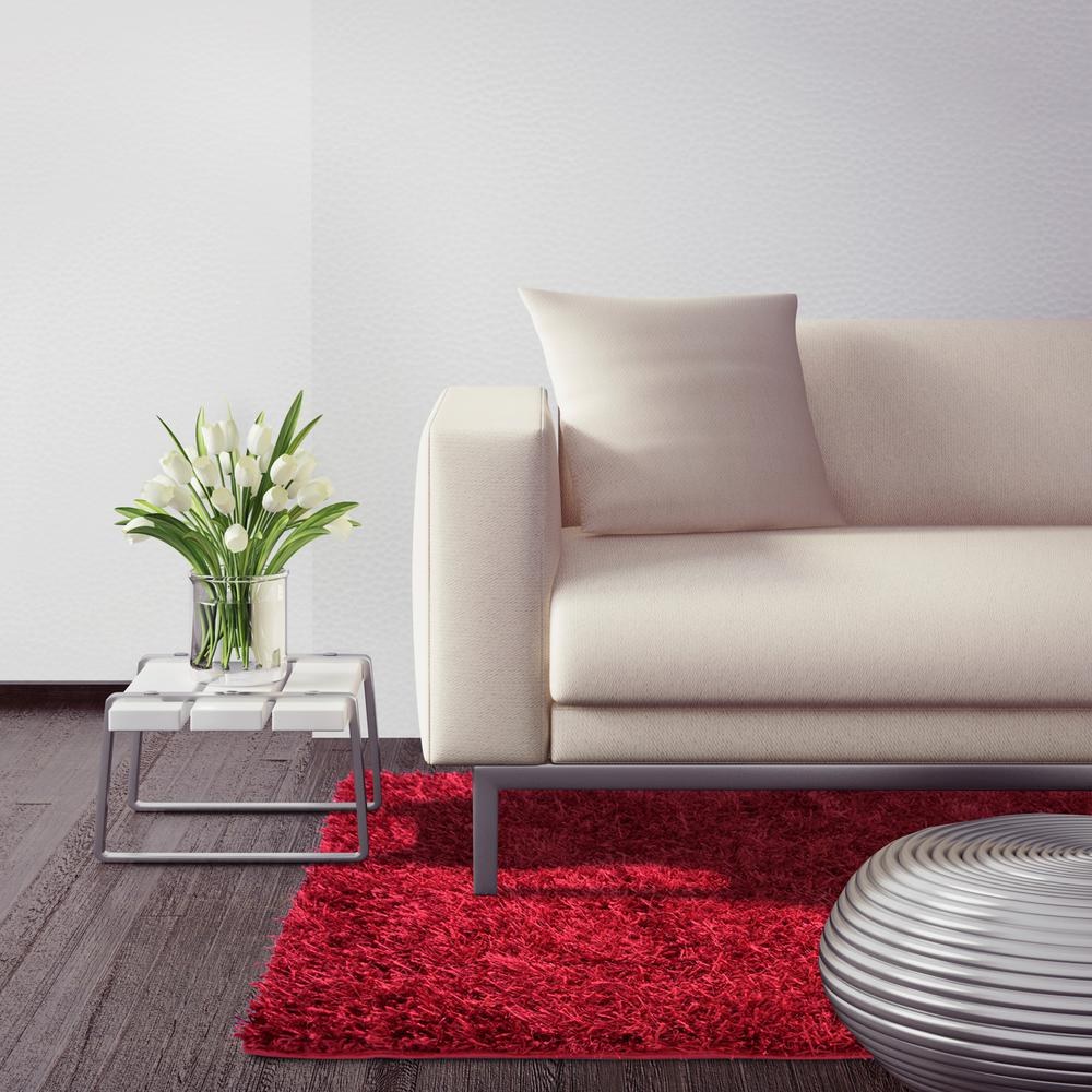 Home Decorators Collection City Sheen Red 6 ft. x 6 ft. Square Area Rug