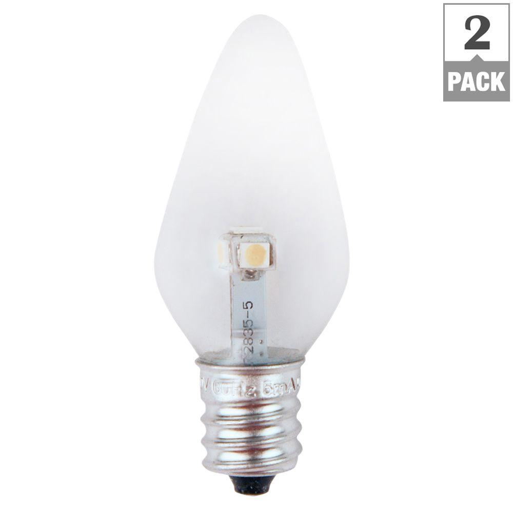 7W Equivalent Bright White Clear-C7 Non-Dimmable LED Replacement Light Bulb