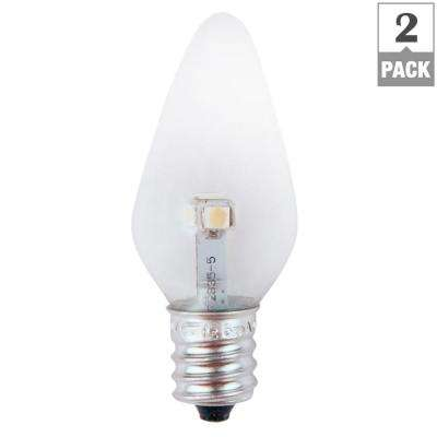 7W Equivalent Bright White Clear-C7 Non-Dimmable LED Replacement Light Bulb (2-Pack)