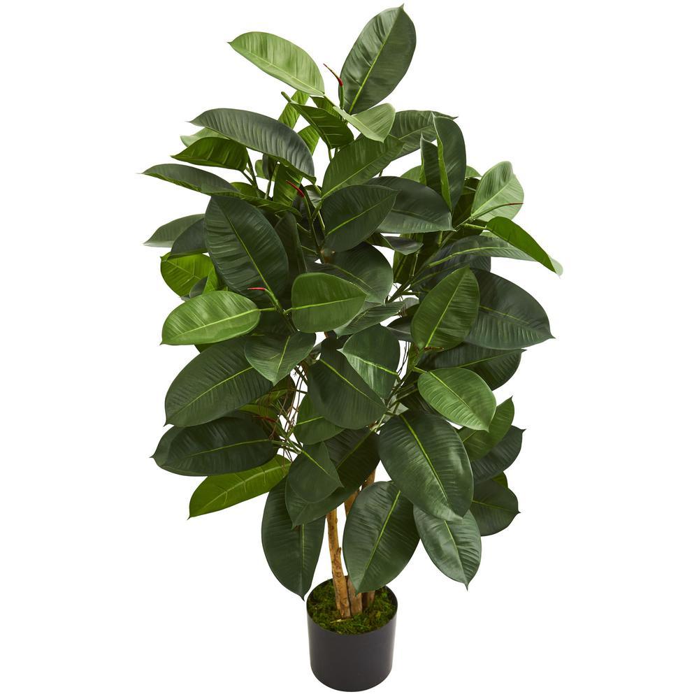 Indoor 4 ft. Oak Ficus Artificial Tree