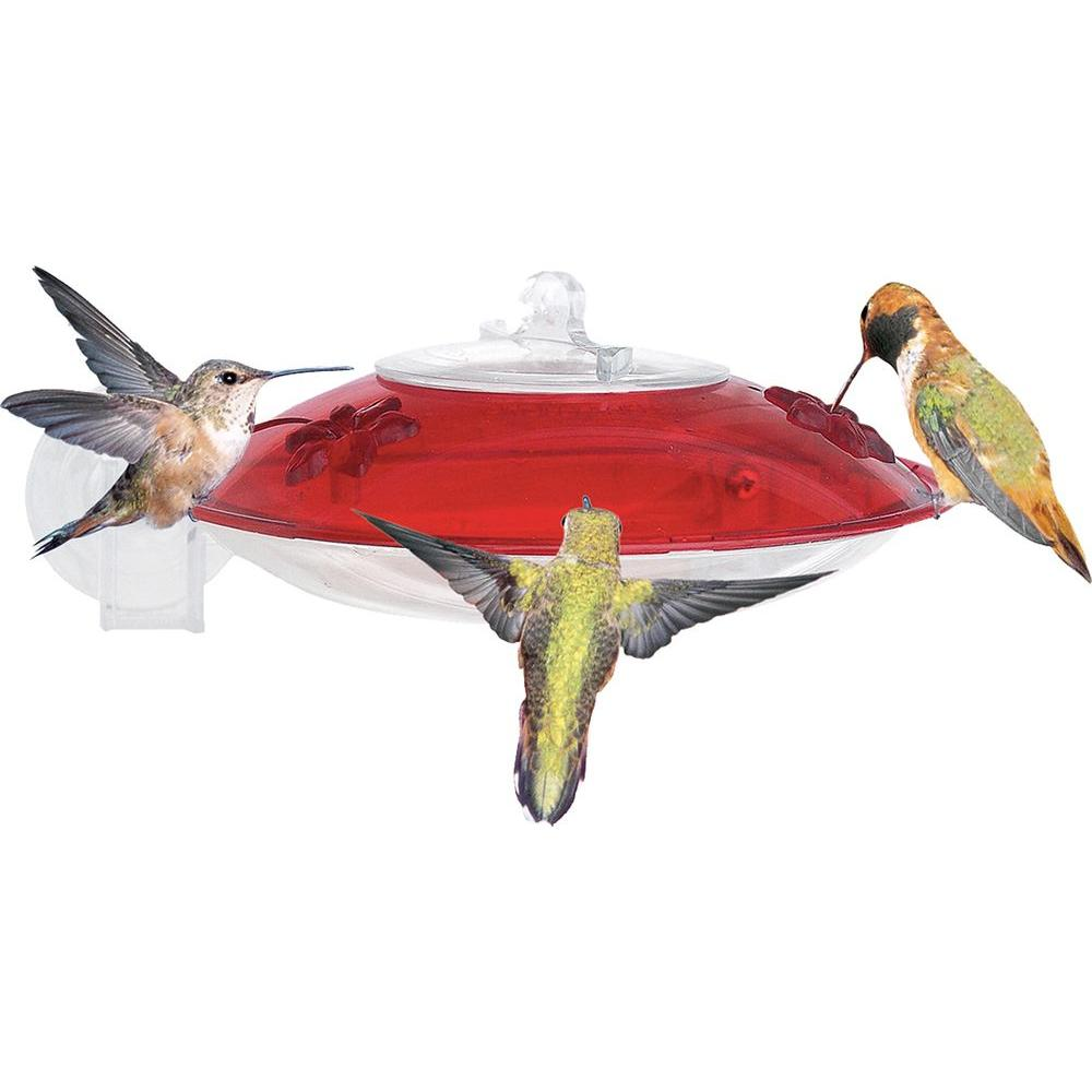 6.5 in. Window Hummer Window Mounted Hummingbird Feeder
