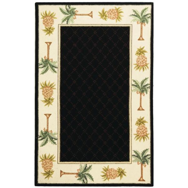 Chelsea Black/Ivory 7 ft. 9 in. x 9 ft. 9 in. Area Rug