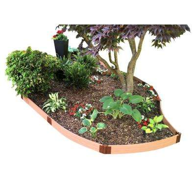 One Inch Series 16 ft. x 5.5 in. Classic Sienna Backyard Border Curved Kit