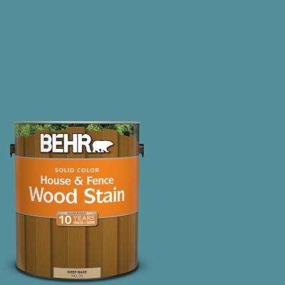 1 gal. #HDC-AC-23A Cabana Blue Solid Color House and Fence Exterior Wood Stain