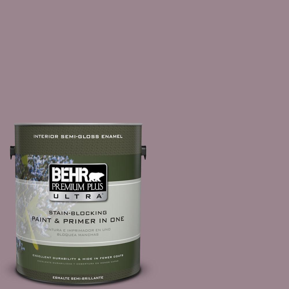 BEHR Premium Plus Ultra Home Decorators Collection 1-gal. #HDC-CL-05 Orchard Plum Semi-Gloss Enamel Interior Paint