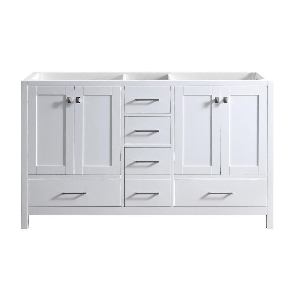 Caroline Madison 60 in. W Bath Vanity Cabinet Only in White