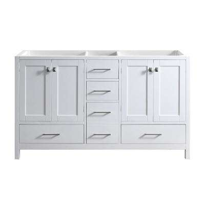 Caroline Madison 60 in. W Bath Vanity Cabinet Only in White