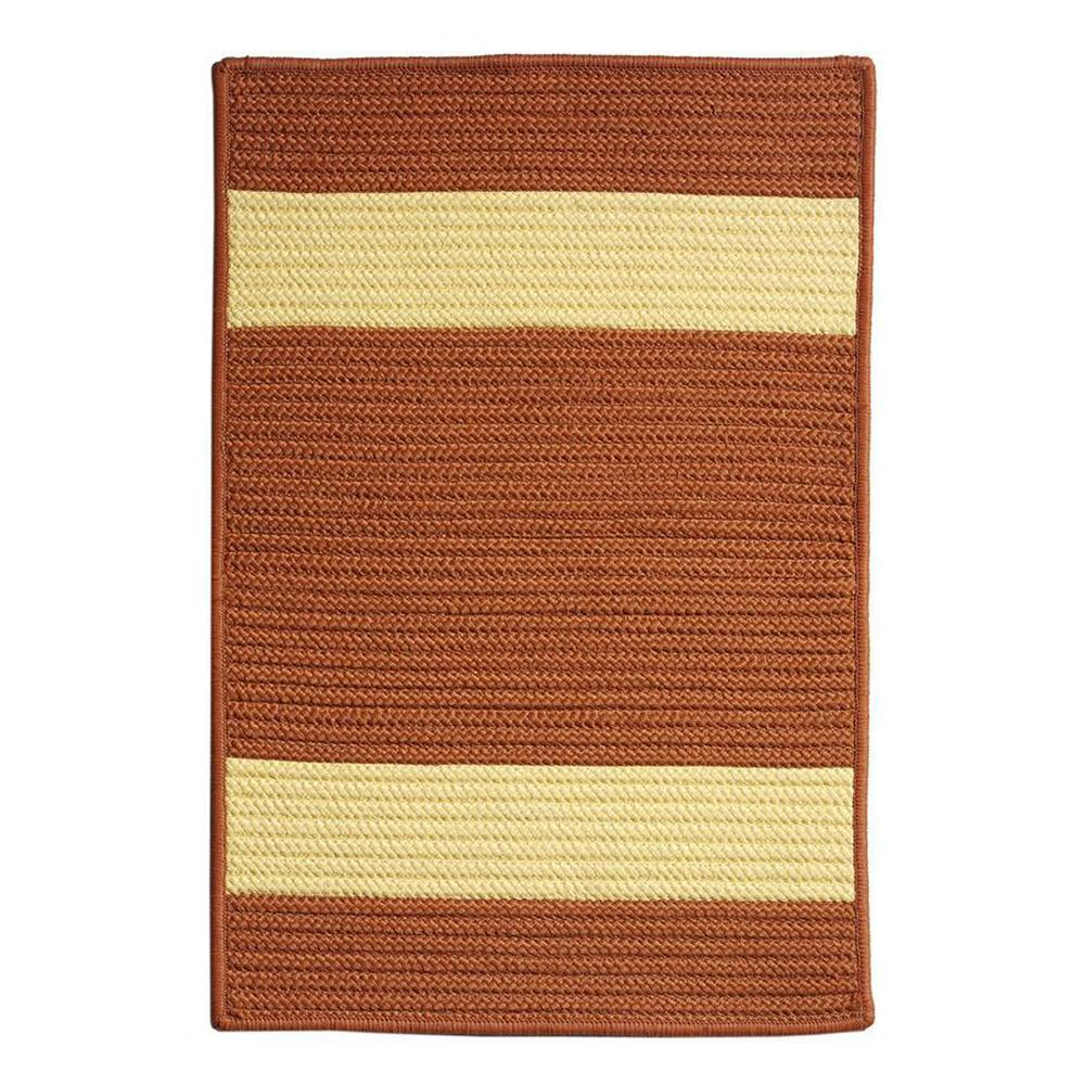 Home Decorators Collection Cafe Milano 2 ft. x 9 ft. Rust/Yellow Indoor/Outdoor Braided Runner Rug