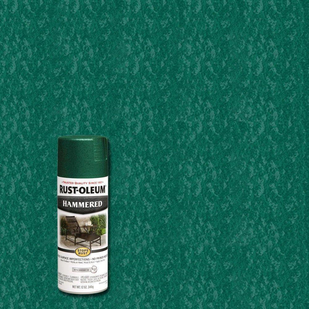 12 oz. Deep Green Protective Enamel Hammered Spray Paint