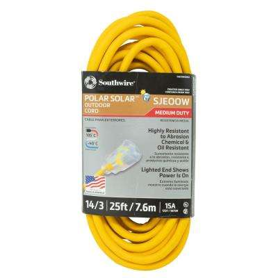 25 ft. 14/3 SJEOOW Cold Weather Outdoor Heavy-Duty Extension Cord