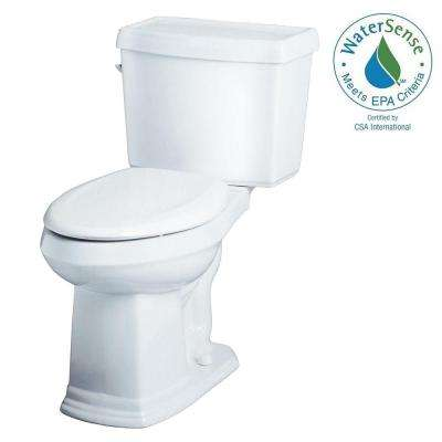 Allerton 2-Piece 1.280 GPF Single Flush High Efficiency Elongated ErgoHeight Toilet in White