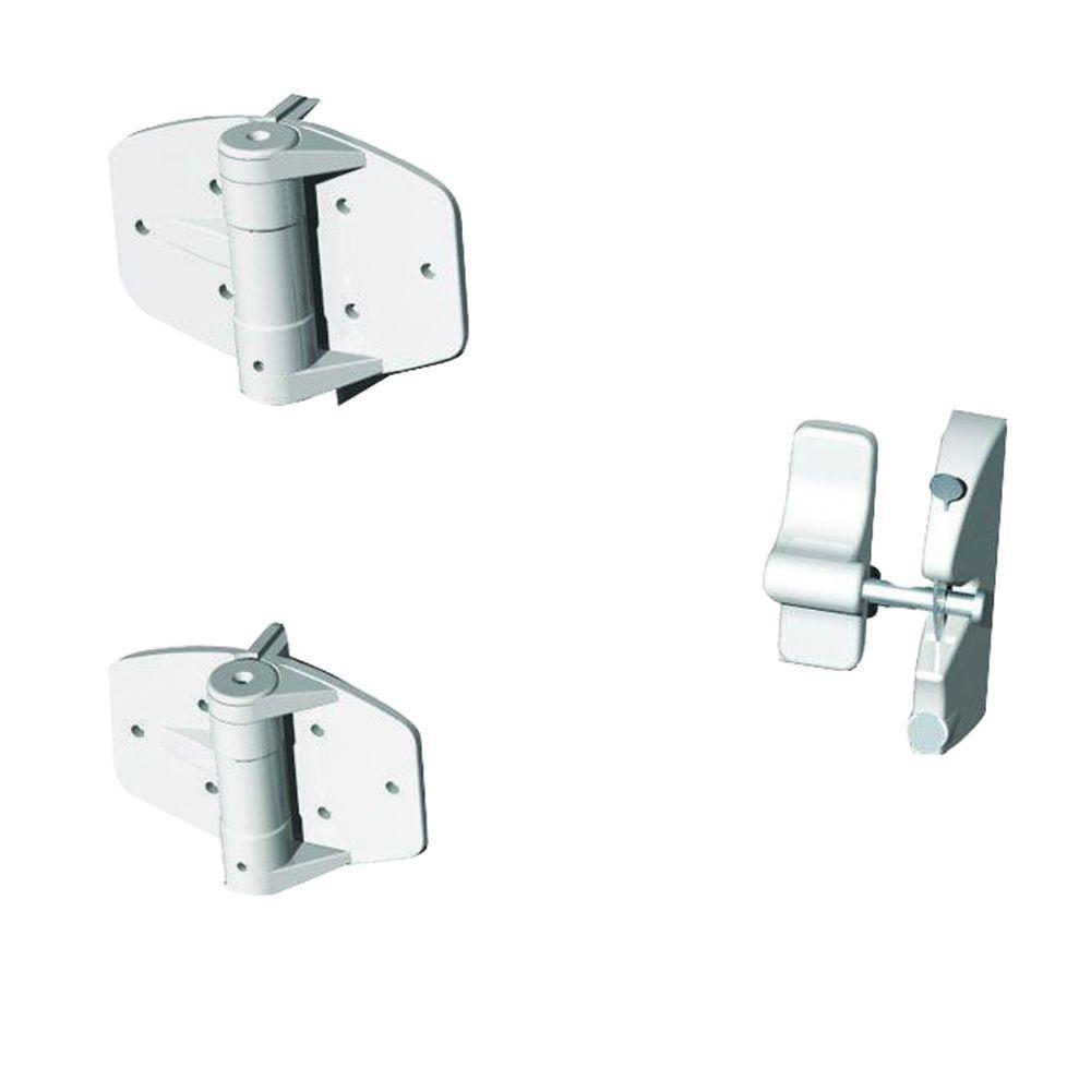 White Single Gate Hardware Kit