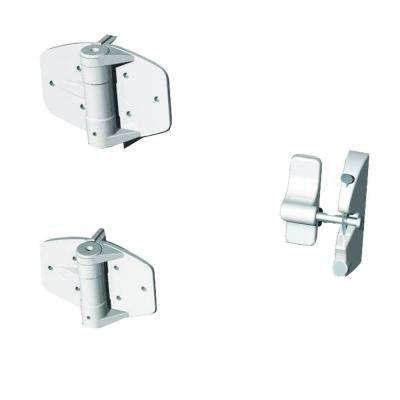 White Single Gate Hardware Kit