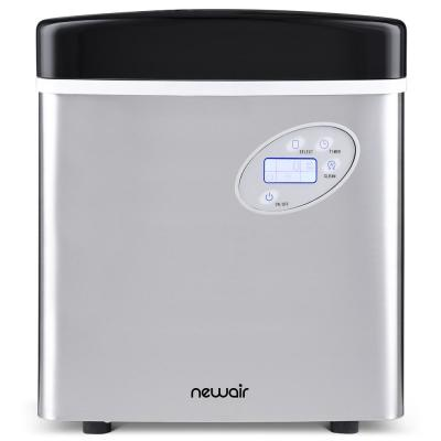 Portable 50 lb. of Ice a Day Countertop Ice Maker BPA Free Parts with 3 Ice Sizes and Easy to Clean - Stainless Steel