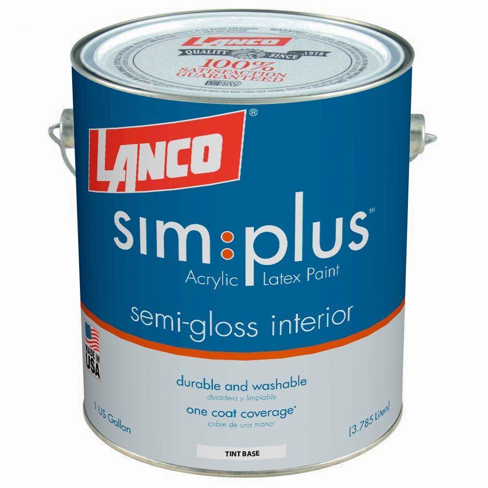 Simplus 1 Gal. White Semi-Gloss Interior Paint