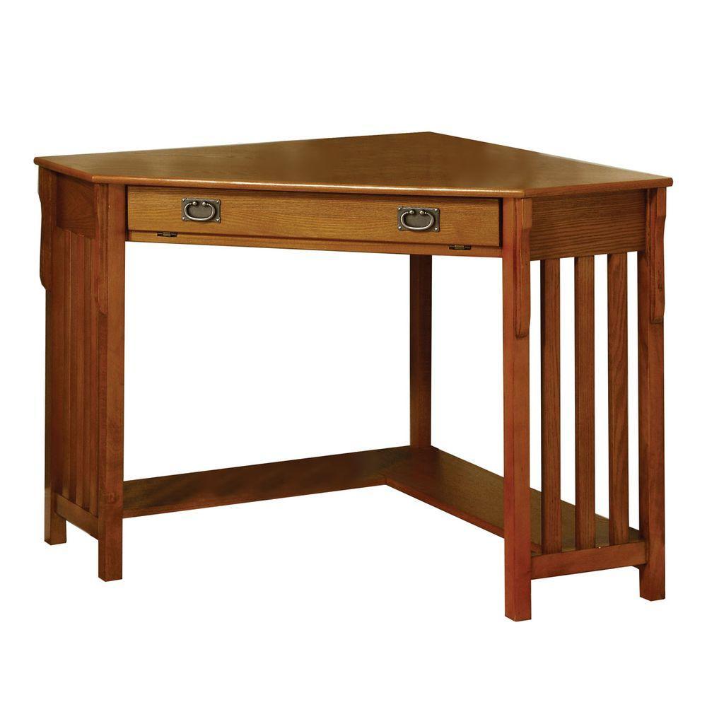 Toledo Medium Oak Finish Desk Cm Dk6641 The Home Depot