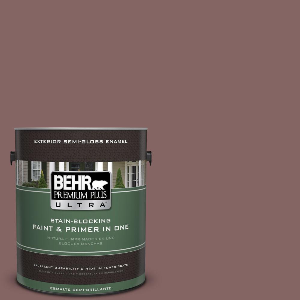 BEHR Premium Plus Ultra 1-gal. #130F-6 Brazil Nut Semi-Gloss Enamel Exterior Paint