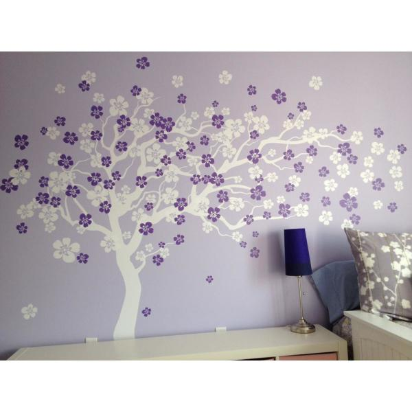 225 & 144 in. x 83 in. Cherry Blossom Tree Removable Wall Decal