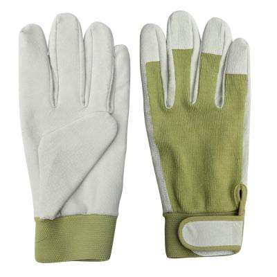 9.5 in. Leather Gardening Ladies Gloves