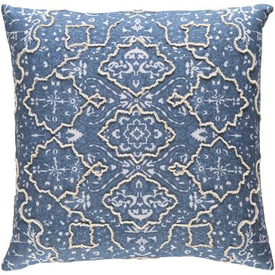 Laquanda Navy Graphic Polyester 18 in. x 18 in. Throw Pillow