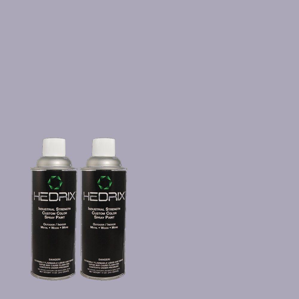 Hedrix 11 oz. Match of 620D-4 Veranda Iris Semi-Gloss Custom Spray Paint (2-Pack)