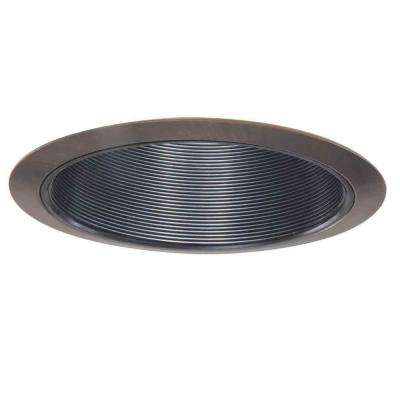 310 Series 6 in. Tuscan Bronze Recessed Ceiling Light Black Coilex Baffle and Trim