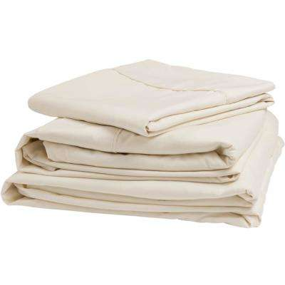 Ultra-Soft Brushed Microfiber Adjustable Sheet Set for Mattresses Up to 6 in. - Queen