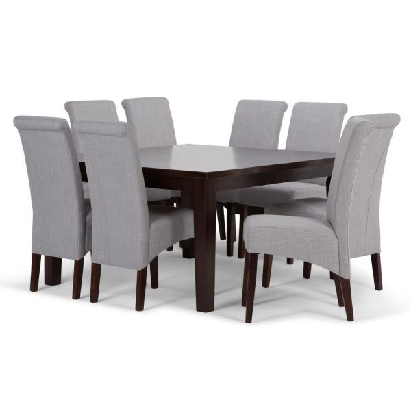 Set Chairs: Simpli Home Avalon 9-Piece Dining Set With 6 Upholstered