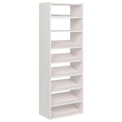 72 in. H x 24 in. W Classic White Essential Shoe Tower Kit