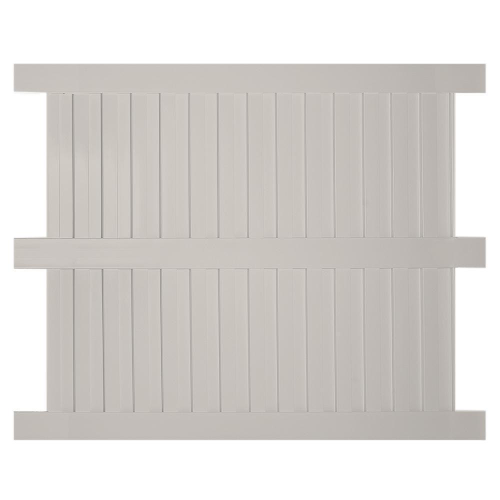 Largo 6 ft. H x 6 ft. W Tan Vinyl Privacy Fence Panel Kit