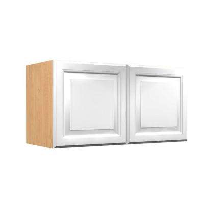 Anzio Ready to Assemble 36 x 12 x 12 in. Wall Cabinet with 2 Soft Close Doors in Polar White