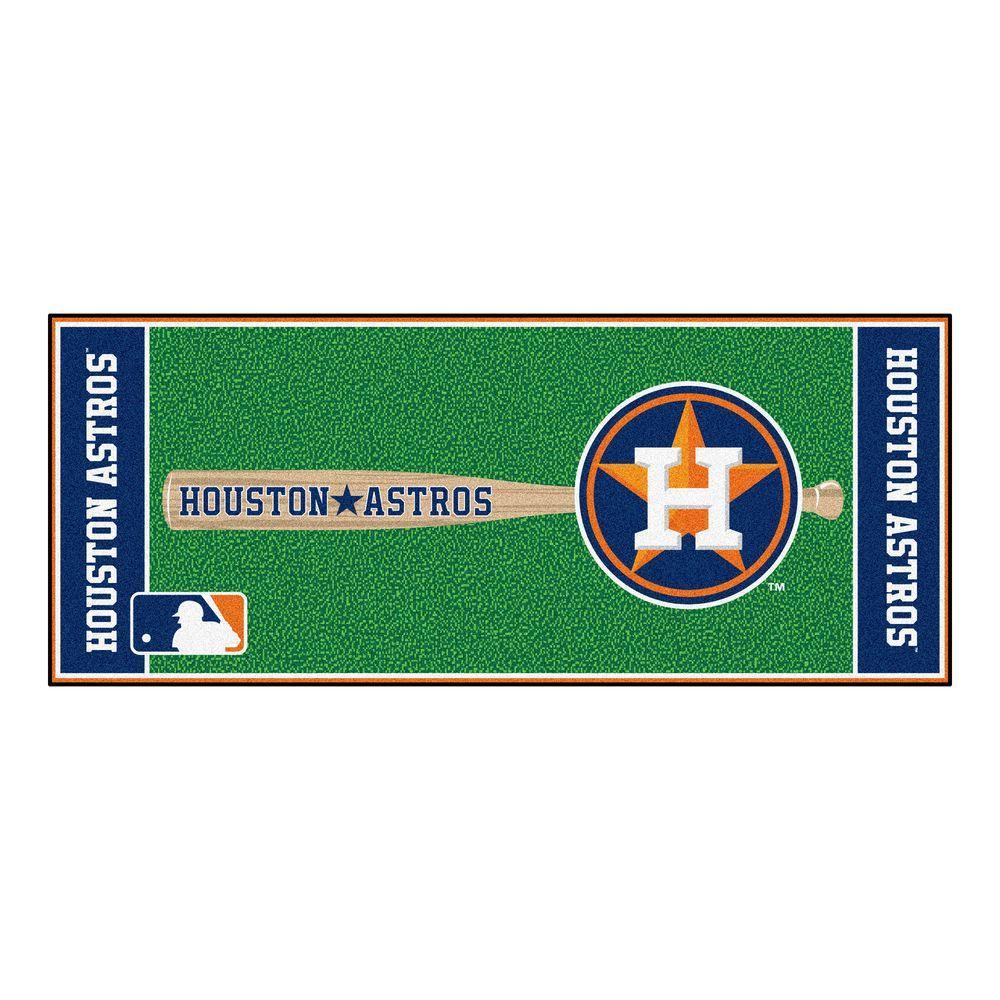 FANMATS Houston Astros 2 ft. 6 in. x 6 ft. Baseball Runner