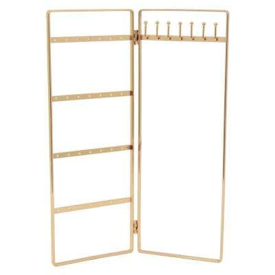 11 in. Gold Metal Jewelry Holder