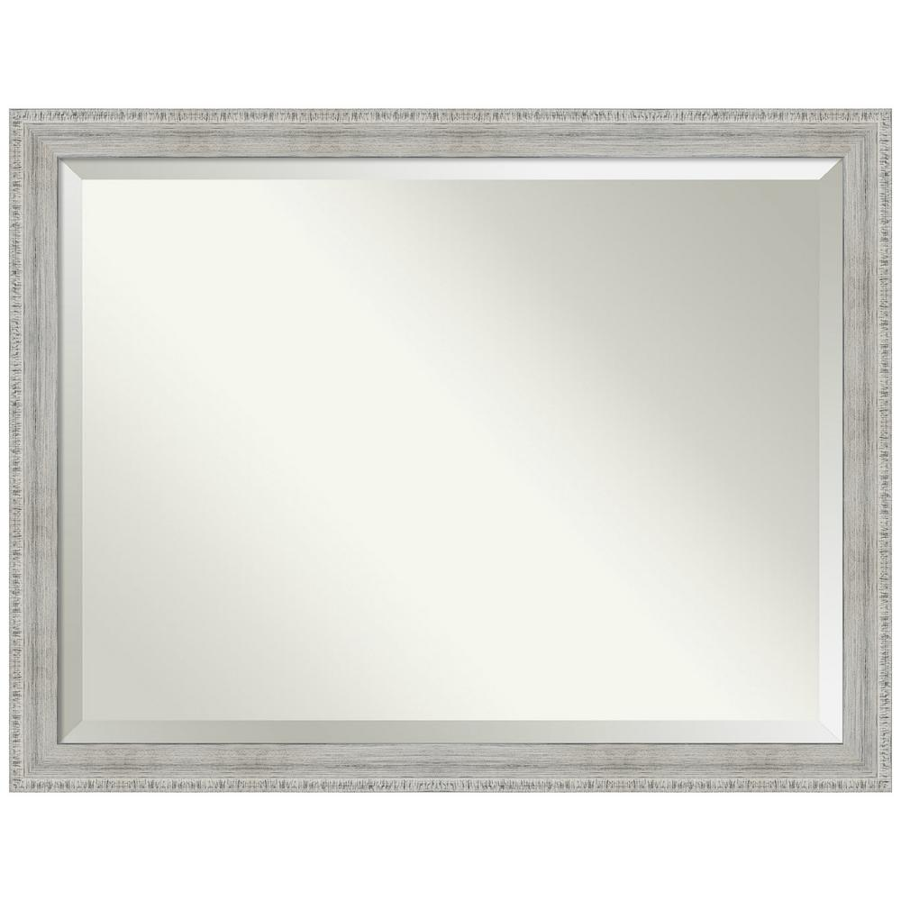 Amanti Art Rustic White Wash 44.38 in. x 34.38 in. Decorative Wall Mirror was $417.0 now $244.77 (41.0% off)