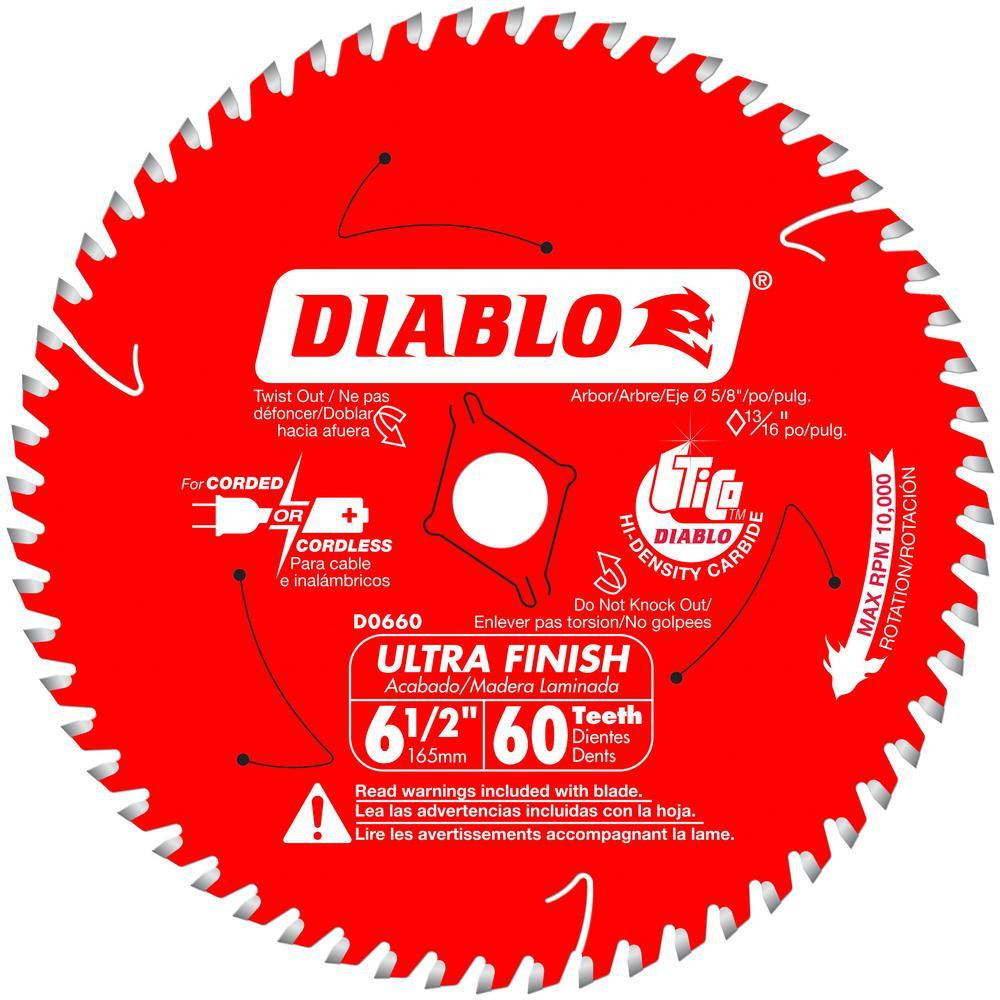DIABLO 6-1/2 x 60T Ultra Finish Saw Blade