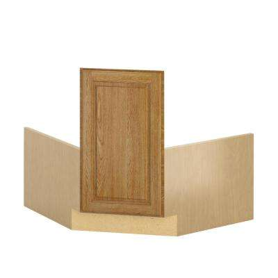 Madison Ready to Assemble 36x34.5x36 in. Corner Sink Base Cabinet in Medium Oak