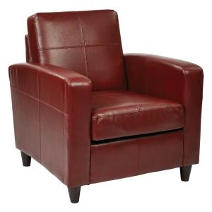 Ave Six Venus Crimson Club Chair by Ave Six