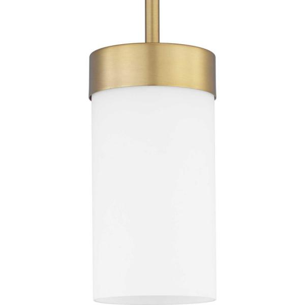 Elevate 1-Light Bronze Mini Pendant with Etched Glass Shade