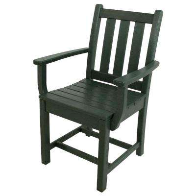 Traditional Garden Green Patio Dining Arm Chair