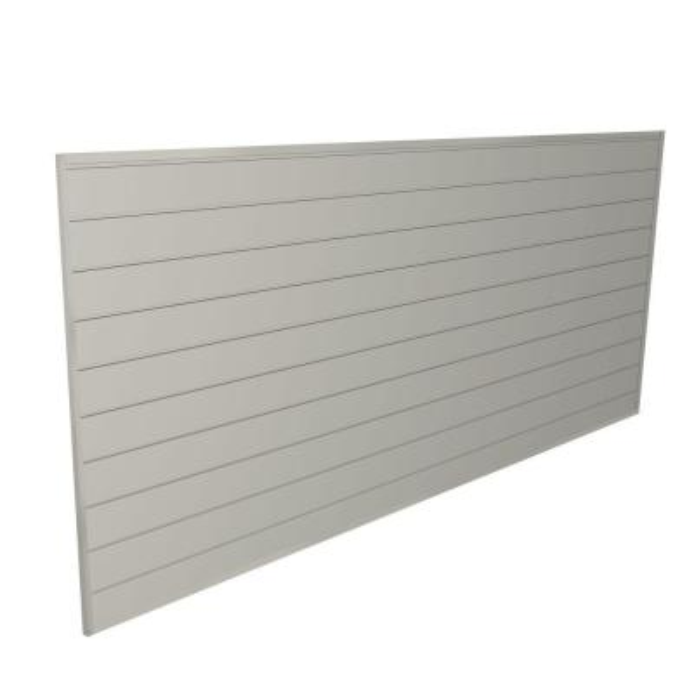 PVC Slatwall 8 ft. x 4 ft. Sandstone
